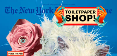 Desktop homepage of art magazine Toiletpaper