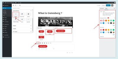 Button Layout in Gutenberg