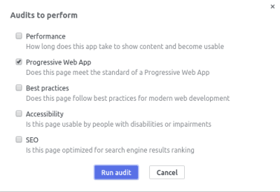 Progressive Web App Audits