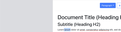 Image with the text ` ipsum` selected in the editor