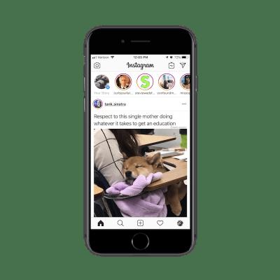 Búsqueda de la aplicación Instagram