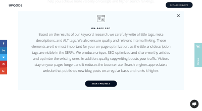 UPQODE On-Page SEO explanation for clients