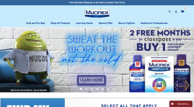 Mucinex website 2020 - Mr. Mucus dad bod