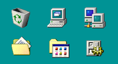 Windows 98 icons