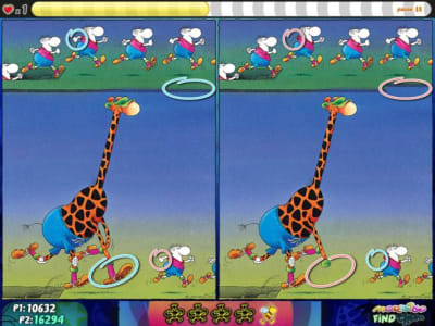 "In ""Find it"", players have to find errors comparing two images"