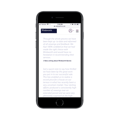 Winkworth testimonials