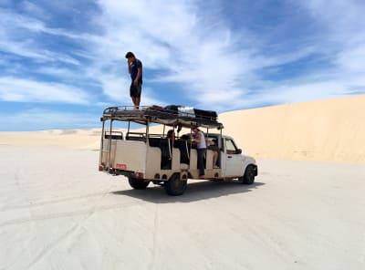 car in a desert