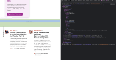 A screenshot of the Chrome DevTools console showing which elements cause CLS.