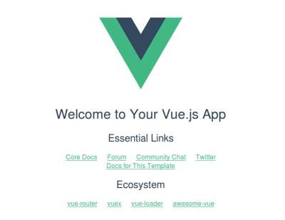 A Vue application