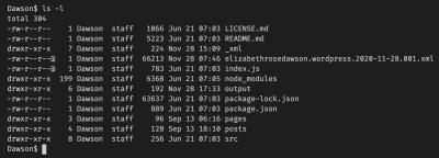 WordPress XML directory listing