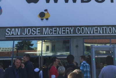 Photo in front of the San Jose McEnery Convention Center