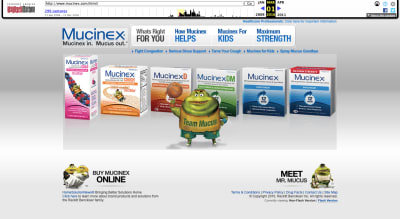 Mucinex website 2010