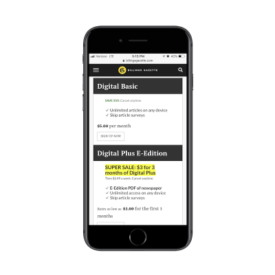 Billing Gazette monetizes a streamlined experience