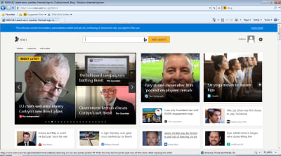 Screenshot of MSN homepage looking good