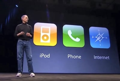 Steve Jobs on One-Handed UX