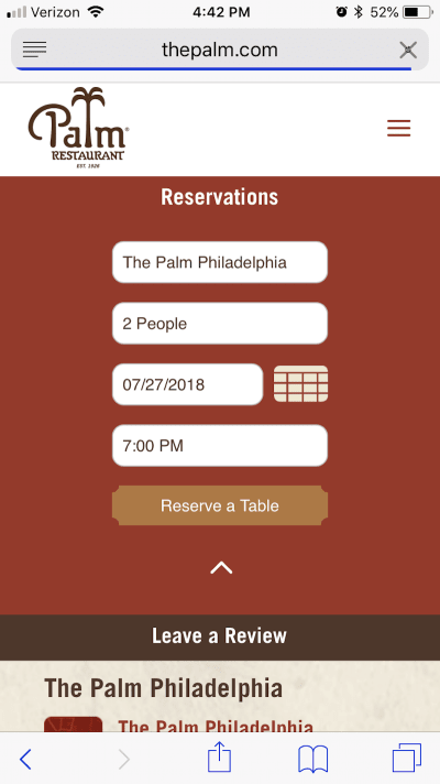 The Palm Restaurant streamlines conversion