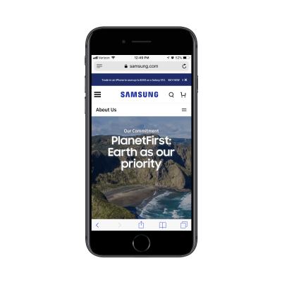 Samsung social responsibility page