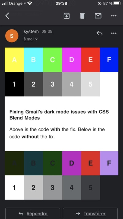 Fixing Dark Mode in HTML emails