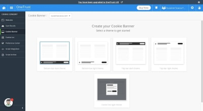 Create banner with Cookie Consent