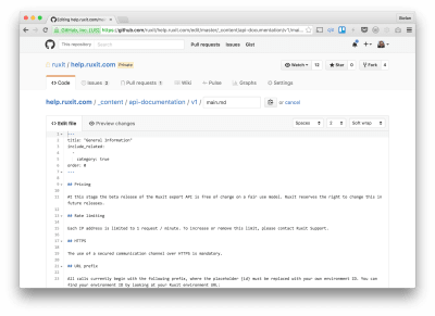Github's source editing interface is close to a Markdown CMS