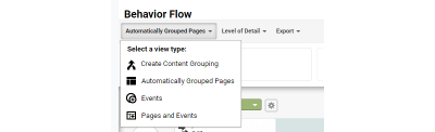 Google Analytics Behavior Flow Report - View Options
