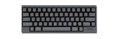 The HHKB has a 60% width layout with no function keys and backspace directly above return