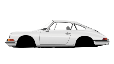 Final image 2/3: Let's take a look at our Porsche 911 car — we're more than half-way there!