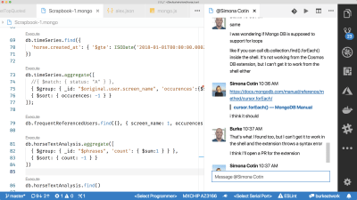 vs code slack chat extension