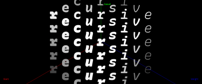 A screenshot of the Recursive font