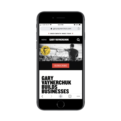 internet marketing Gary Vaynerchuk mobile site