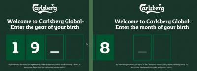 Carlsberg age prompt