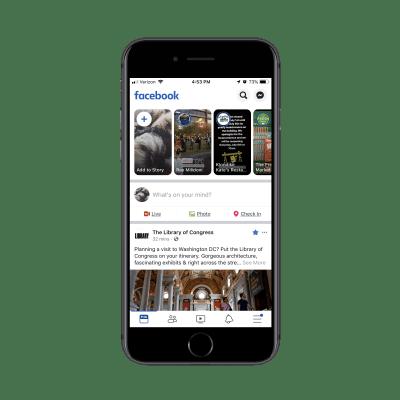 Facebook menu notification