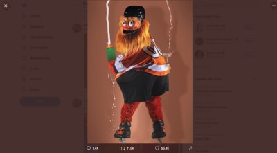 Gritty the mascot meme