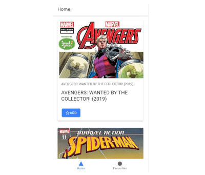 Marvel comics client app