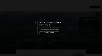 Interactive pop-up widget expands on Four Seasons