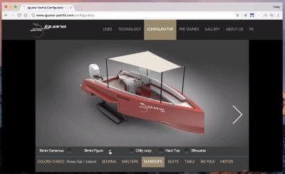 Iguana Yachts' configurator