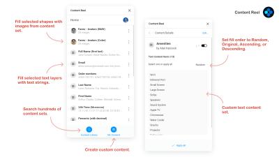 Content Reel plugin UI