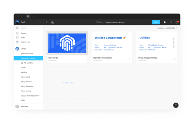 A screenshot of Liferay's open source Figma project