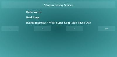 Modern Blog Homepage