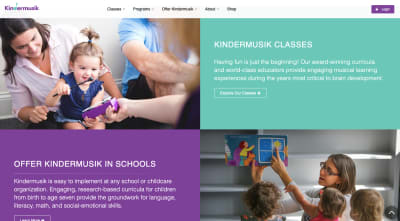 Kindermusik website - toddler plays with mini xylophone