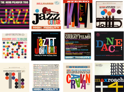 Several record cover designs by McBain Associates during the 1960s.