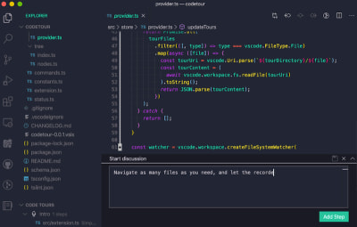 Record and play back guided tours of your codebases