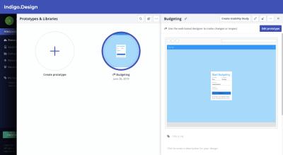 Indigo.Design prototype editor access