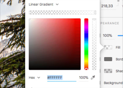 linear gradient with two colors and transparency