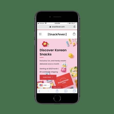 SnackFever home page