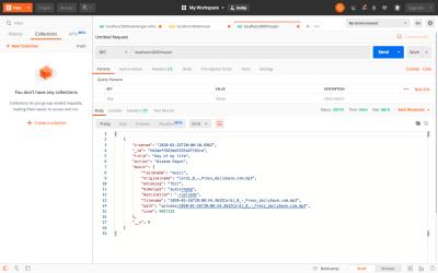 Testing Listing API using Postman