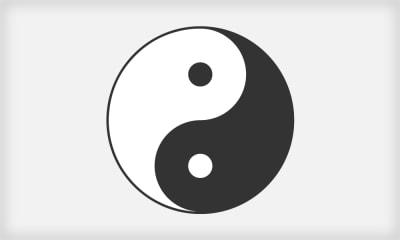 The popular Chinese symbol Yin and Yang
