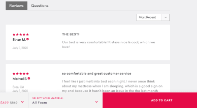 putting reviews on landing pages for social proof