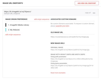 ImageKit image URL endpoints