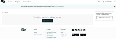 edX's user profile